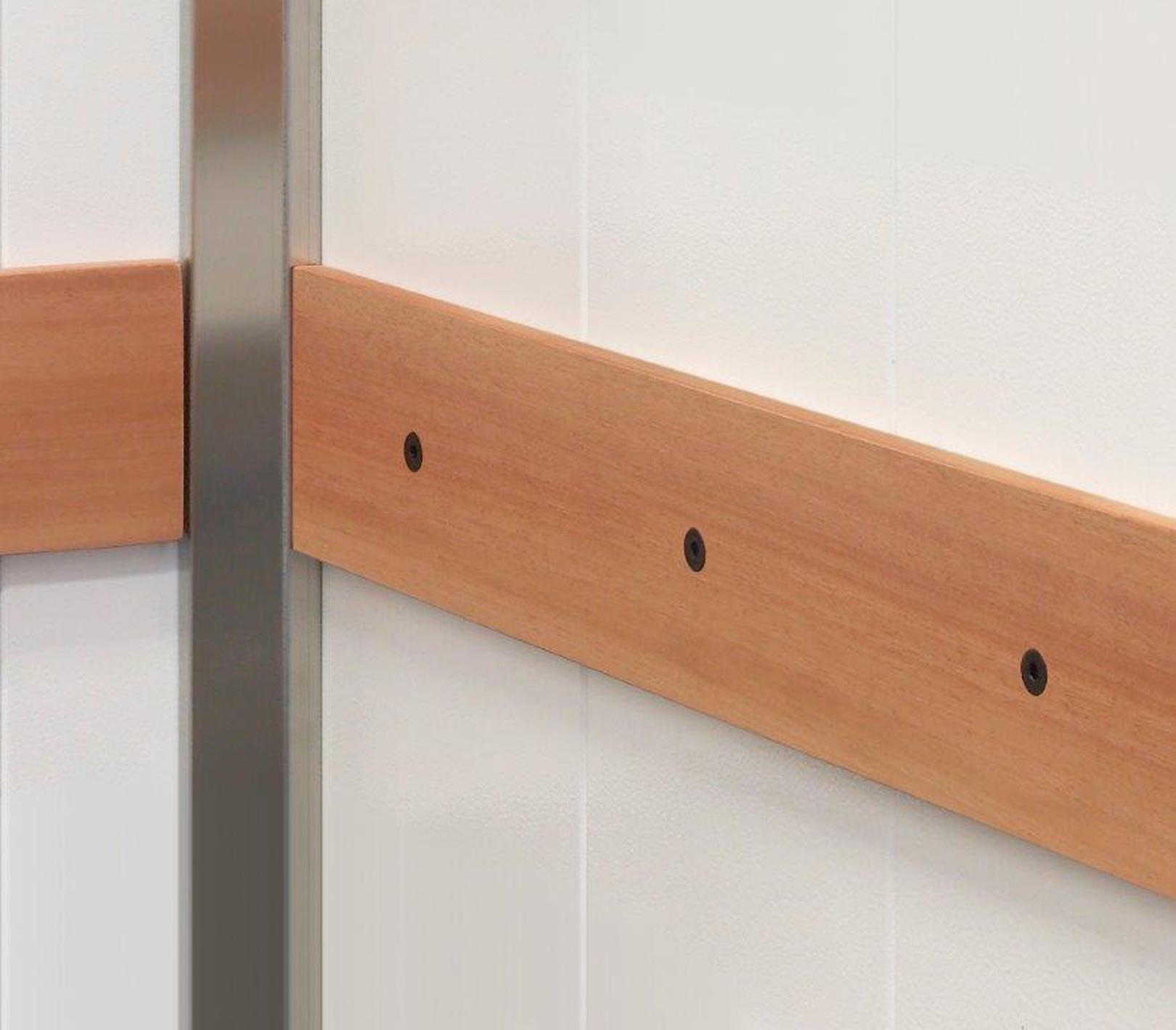 Beech wooden bumber rails