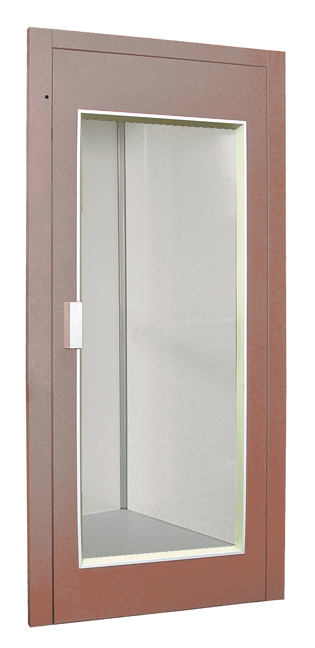 Iron door with panoramic glass